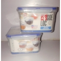 JOYO SET OF TWO  4 SIDE LOCKED AIRTIGHT CONTAINERS