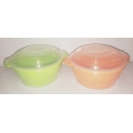 Micro fresh  containers set of 2 (orange & green ).