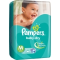 Pampers Baby-Dry 42 Disposale Dipers Medium For 6-11kg.