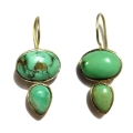 Earring0007-Nice Earring made with Beautiful Turquoise Stone and Silver