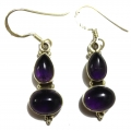 Earring0009-Nice Earring made with Beautiful Amethyst Stone and Silver