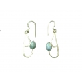 Earring0015-Nice Earring made with Beautiful Turquoise Stone and Silver
