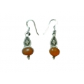 Earring0023-Nice Earring made with Beautiful Carnelian Stone and Silver
