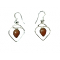 Earring0025-Nice Earring made with Beautiful Carnelian Stone and Silver