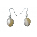 Earring0027-Nice Earring made with Beautiful Opal Stone and Silver