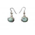 Earring0028-Nice Earring made with Beautiful Turquoise Stone and Silver