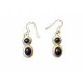 Earring0030-Nice Earring made with Beautiful Amethyst Stone and Silver