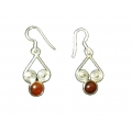 Earring0032-Nice Earring made with Beautiful Carnelian Stone and Silver