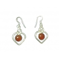 Earring0034-Nice Earring made with Beautiful Carnelian Stone and Silver