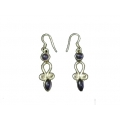 Earring0035-Nice Earring made with Beautiful Amethyst Stone and Silver