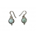 Earring0038-Nice Earring made with Beautiful Turquoise Stone and Silver