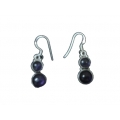 Earring0040-Nice Earring made with Beautiful Amethyst Stone and Silver