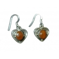 Earring0042-Nice Earring made with Beautiful Carnelian Stone and Silver