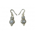 Earring0043-Nice Earring made with Beautiful Rose Quartz Stone and Silver