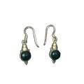 Earring0046-Nice Earring made with Beautiful  Malachite Stone and Silver