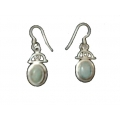 Earring0048-Nice Earring made with Beautiful Turquoise Stone and Silver