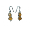 Earring0049-Nice Earring made with Beautiful Carnelian Stone and Silver