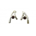Earring0051-Nice Earring made with Beautiful Garnet Stone and Silver