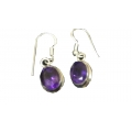 Earring0052-Nice Earring made with Beautiful Amethyst  Stone and Silver