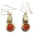 E0060-Nice Earring made with Beautiful Carnelian Stone and Silver