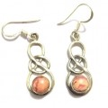 E0061-Nice Earring made with Beautiful Rodocrosite Stone and Silver