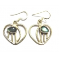 E0064-Nice Earring made with Beautiful Black Rainbow Moon Stone and Sterling Silver