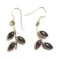 E0065-Nice Earring made with Beautiful Garnet Stone and Sterling Silver