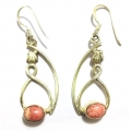 E0066-Nice Earring made with Beautiful Rodocrosite Stone and Sterling Silver