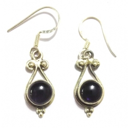 E0067-Nice Earring made with Beautiful Amethyst Stone and Sterling Silver