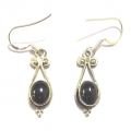 E0068-Nice Earring made with Beautiful Garnet Stone and Sterling Silver