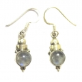 E0070-Nice Earring made with Beautiful Rainbow Moon Stone and Sterling Silver