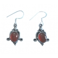 E0071-Nice Earring made with Beautiful Carnelian Stone and Sterling Silver