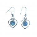 E0073-Nice Earring made with Beautiful Rainbow Moon Stone and Sterling Silver
