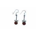 E0075-Nice Earring made with Beautiful Carnelian Stone and Sterling Silver