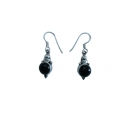 E0076-Nice Earring made with Beautiful Black Onex and Sterling Silver