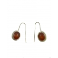 Nice Earring made with Beautiful Carnelian Stone and Sterling Silver