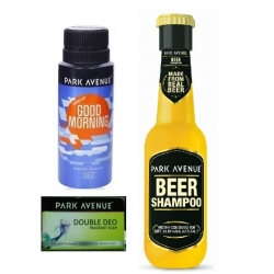 Park Avenue good morning deo +double deo soap + free beer shampoo