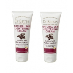 Dr Batras Natural Skin Lightening Cream Enriched With Mulberry Extract-100gm (Pack of 2)