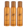 Revlon Charlie Gold Perfumed Body Spray-150ml Set Of 3