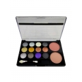 NYX 12 Color Eye Shadow 2 Color Blush Shade 04-20gm