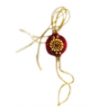 ShoppersCave Raksha Bhandan knots Fancy Rakhies With Roli Chawal-Red Resham Rakhi With Golden Motif