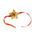 ShoppersCave Raksha Bhandan knots Fancy Rakhies With Roli Chawal-Resham Rakhi With Kundan