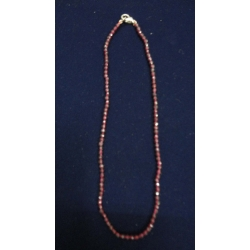Faceted Garnet Neclace