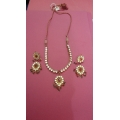 Beautiful Kundan Meena  Necklace set