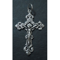 92.5 Silver Plated Cross Pendant  With Jesus Embedded