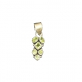 Artistic Sliver Plated Pendant With Peridot Stone