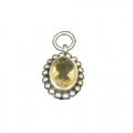 Artistic Sliver Plated Pendant With Citerine Stone