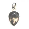 Faceted Smoky Quartz  Stone Pendant setted in Sterling Silver