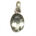 Faceted Green Amethyst Stone Pendant setted in Sterling Silver