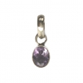 Faceted Amethyst Stone Pendant setted in Sterling Silver
